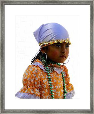 Cuenca Kids 199 Framed Print by Al Bourassa