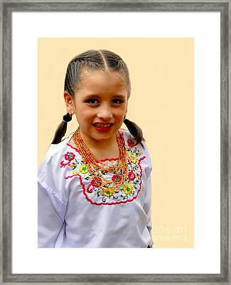Cuenca Kids 203 Framed Print by Al Bourassa
