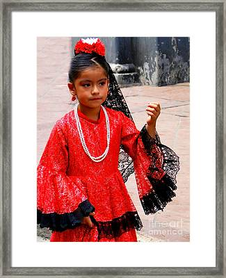 Cuenca Kids 209 Framed Print by Al Bourassa