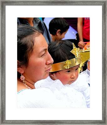 Cuenca Kids 44 Framed Print by Al Bourassa