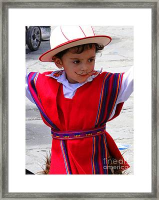 Cuenca Kids 68 Framed Print by Al Bourassa