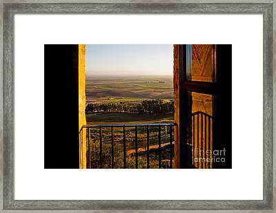 Cultivated Land In Spain Framed Print by Spencer Grant and Photo Researchers