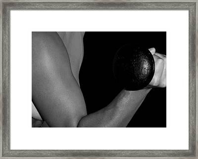 Curl Framed Print by Craig Carlson