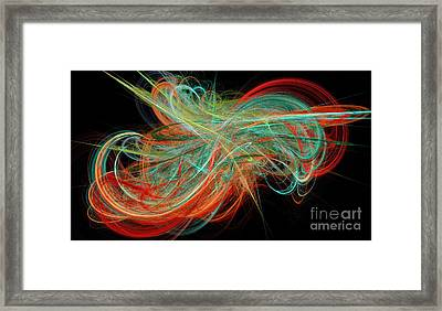 Curls Framed Print by Andee Design