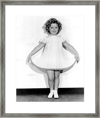 Curly Top, Shirley Temple, 1935 Framed Print by Everett