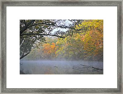 Current River Fall 44r Framed Print by Marty Koch