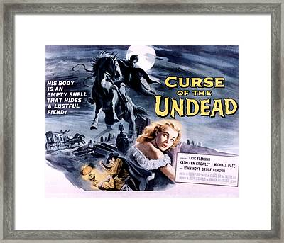 Curse Of The Undead, Kathleen Crowley Framed Print by Everett
