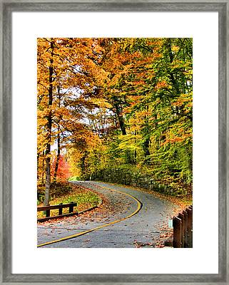 Curve In The Road Framed Print by Kristin Elmquist