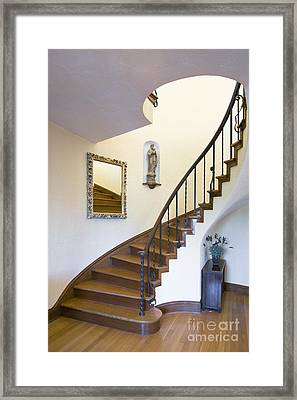 Curved Staircase Framed Print by Andersen Ross