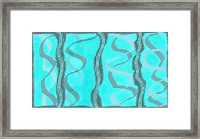 Curves Framed Print by Rosana Ortiz