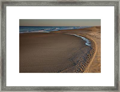 Curving To The Sea II Framed Print by Steven Ainsworth