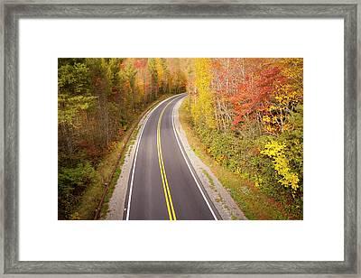 Curvy Road Blue Ridge Parkway, North Carolina Framed Print by Lightvision, LLC