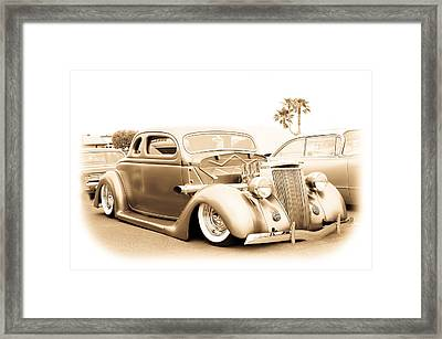 Custom 1936 Ford Framed Print by Steve McKinzie