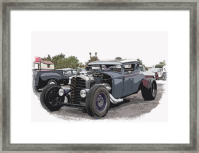 Custom Model A Coupe Framed Print by Steve McKinzie