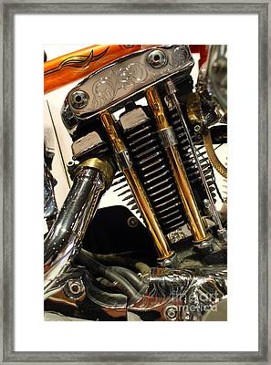 Custom Motorcycle Chopper . 7d13318 Framed Print by Wingsdomain Art and Photography