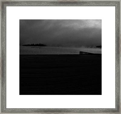 Cut In Lake  Framed Print by JC Photography and Art