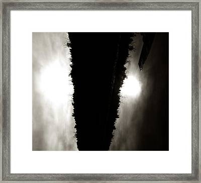 Cut Lake Framed Print by JC Photography and Art