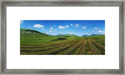 Cut Turf On A Landscape, Connemara Framed Print by The Irish Image Collection