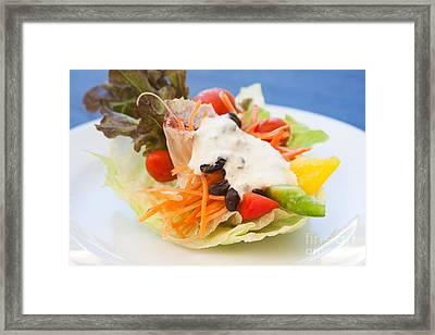 Cute Salad Framed Print by Atiketta Sangasaeng