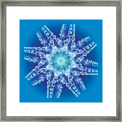Cyanide Snowflake Framed Print by Val Black Russian Tourchin