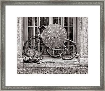 Cycle Circles Framed Print by Michael Avory