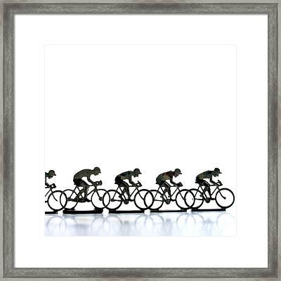 Cyclists Framed Print by Bernard Jaubert