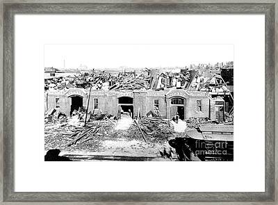 Cyclone Damage, 1896 Framed Print by Science Source