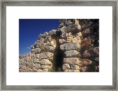 Cyclopean Gate Framed Print by Andonis Katanos