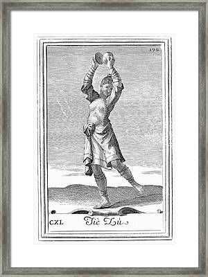 Cymbals, 1723 Framed Print by Granger