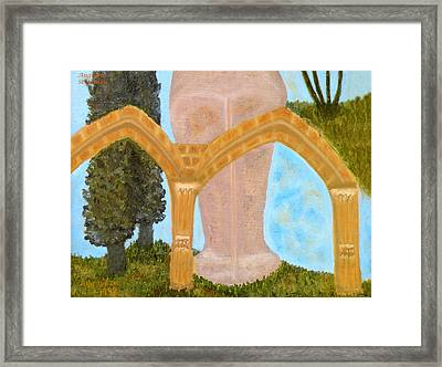 Cyprus Abbey Of Bellapais Framed Print by Augusta Stylianou