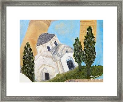 Cyprus Church Of Saint Andronikos Framed Print by Augusta Stylianou