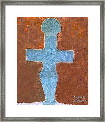 Cyprus Idol Of Pomos Framed Print by Augusta Stylianou