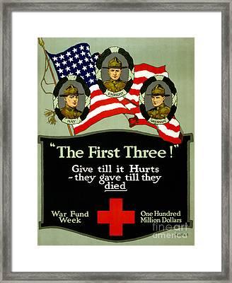 D Cross Poster 1917 Framed Print by Granger