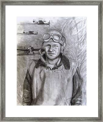 Dad Ww2 Framed Print by Jack Skinner