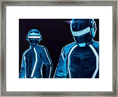 Daft Punk Framed Print by Ellen Patton