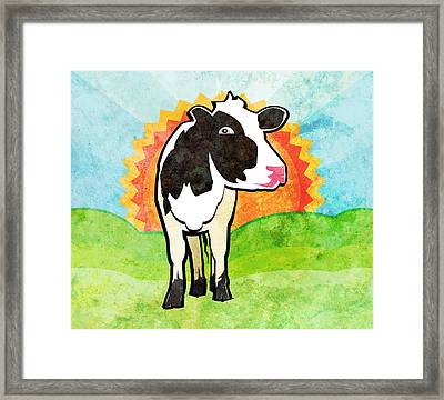 Dairy Cow Framed Print by Mary Ogle