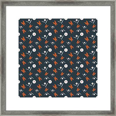 Daisies And Butterflies Framed Print by Design Windmill