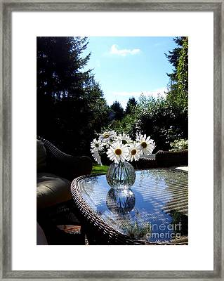 Daisy Bouquet In The Afternoon Light  2 Framed Print by Tanya  Searcy