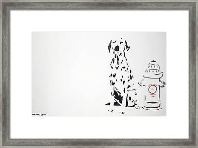 Dalmatian Framed Print by Michael Ringwalt
