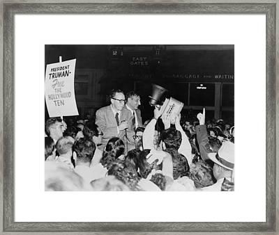 Dalton Trumbo 1905-1976 And John Howard Framed Print by Everett