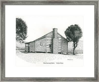 Dan Lawson Cabin Framed Print by Mark Froehlich