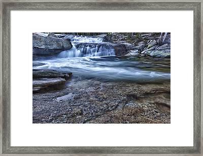 Dana Fork Cascades Framed Print by A A