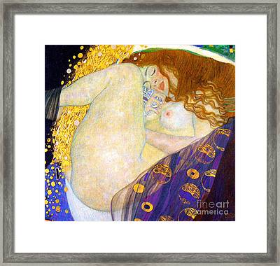 Danae By Gustave Klimt Framed Print by Pg Reproductions