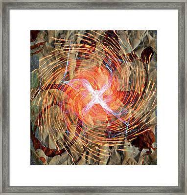Dance Of Fires  Framed Print by JC Photography and Art