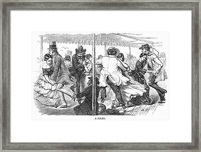 Dance: Polka, 1858 Framed Print by Granger