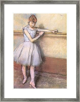Dancer At The Bar Framed Print by Edgar Degas