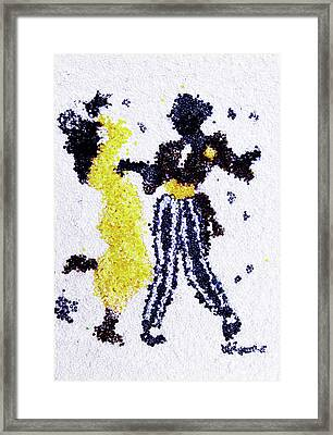 Dancing Couple Framed Print by Natalya A