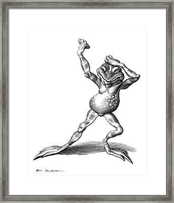 Dancing Frog, Conceptual Artwork Framed Print by Bill Sanderson