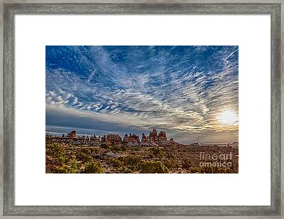 Dancing Light And Clouds 3 Framed Print by Scotts Scapes