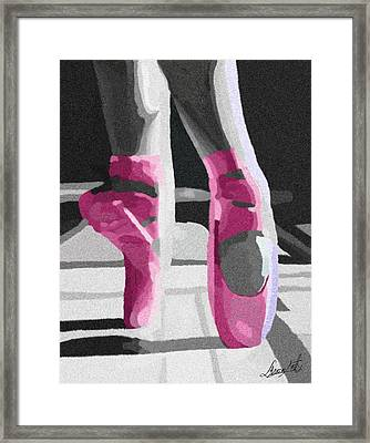 Dancing On Pink Satin Framed Print by Lance  Kelly